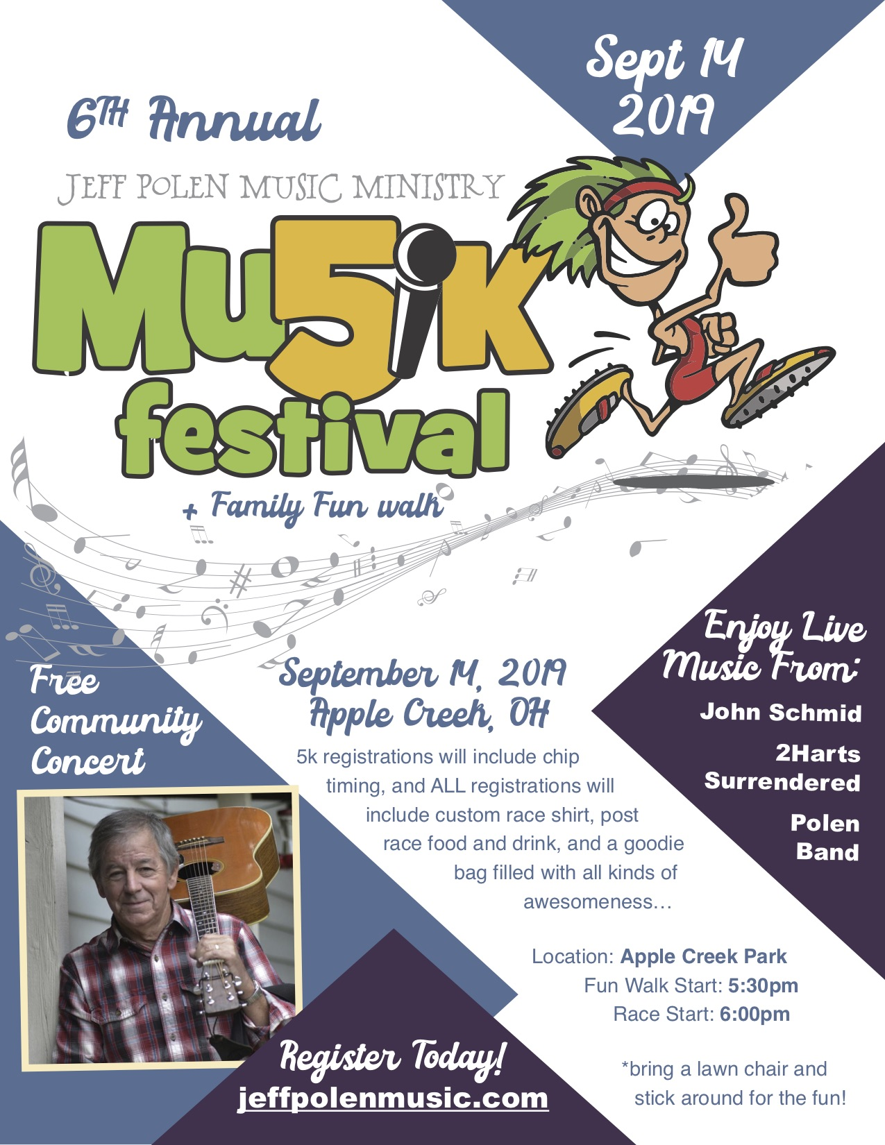 6th Annual JPM 5k & Musik Festival (+ Family Fun Walk)